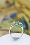 An exceptional Emerald and Diamond Three Stone Ring mounted in Platinum (Marked) and 18 Carat Gold, Pre-Owned - image 3