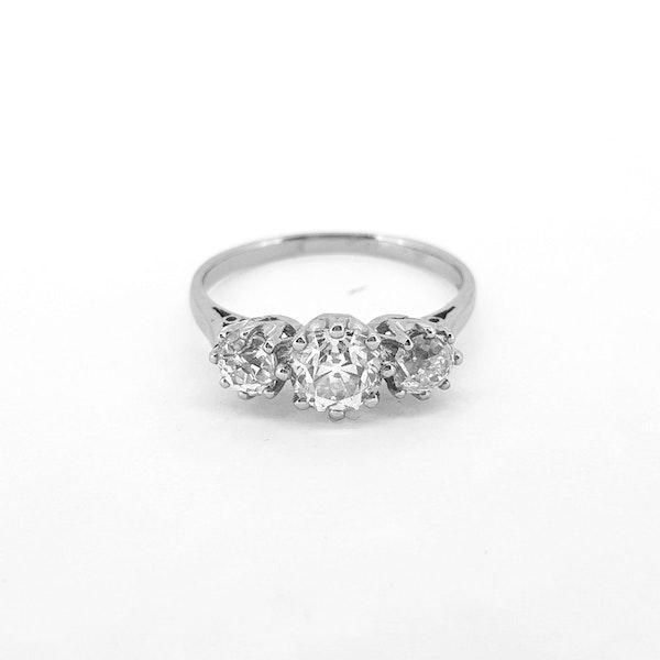 Diamond Trilogy Ring c1930 - image 4