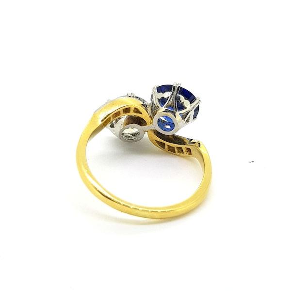 "Sapphire and Diamond ""Toi et Moi"" ring - image 2"