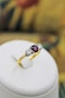 A very fine Three Stone Ruby & Diamond Ring mounted in 18ct Yellow Gold & Platinum, Circa 1950 - image 3