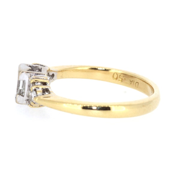 Emerald Cut Diamond Solitaire Ring. S.Greenstein - image 2