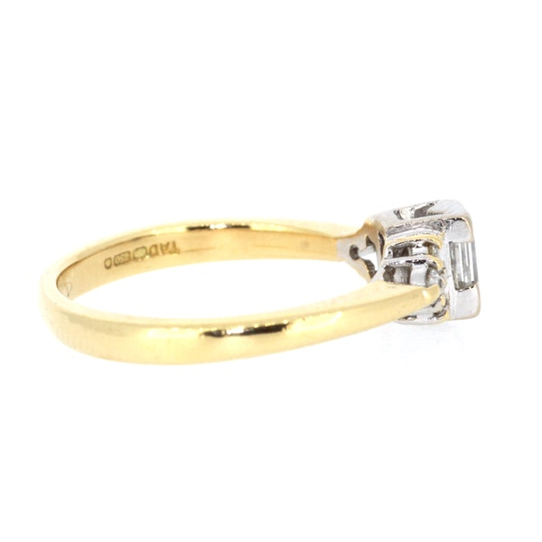 Emerald Cut Diamond Solitaire Ring. S.Greenstein - image 4