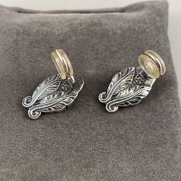 Date: 2008, Georg Jensen, Silver & Green Agate clip Earrings, SHAPIRO & Co since1979 - image 6