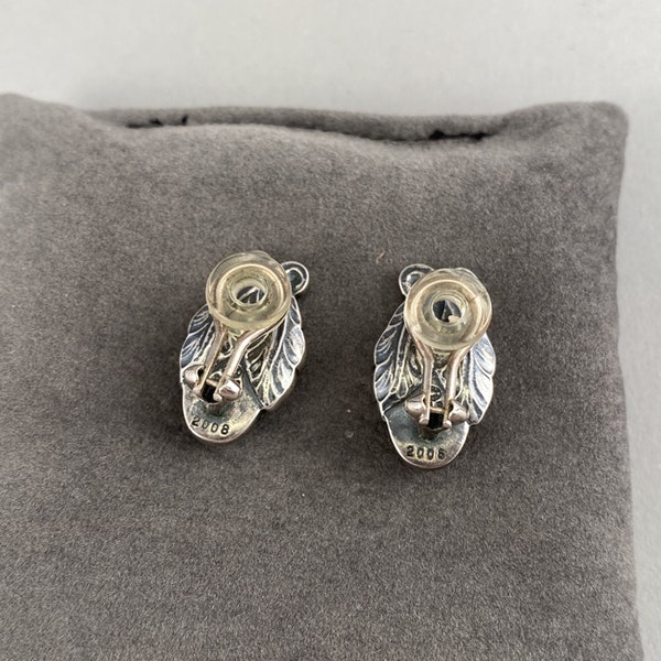 Date: 2008, Georg Jensen, Silver & Green Agate clip Earrings, SHAPIRO & Co since1979 - image 7