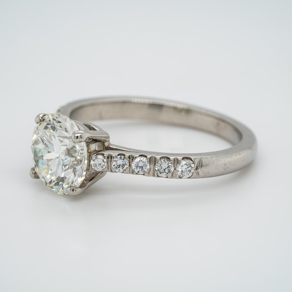 A Solitaire Diamond Engagement Ring Offered by The Gilded Lly - image 3