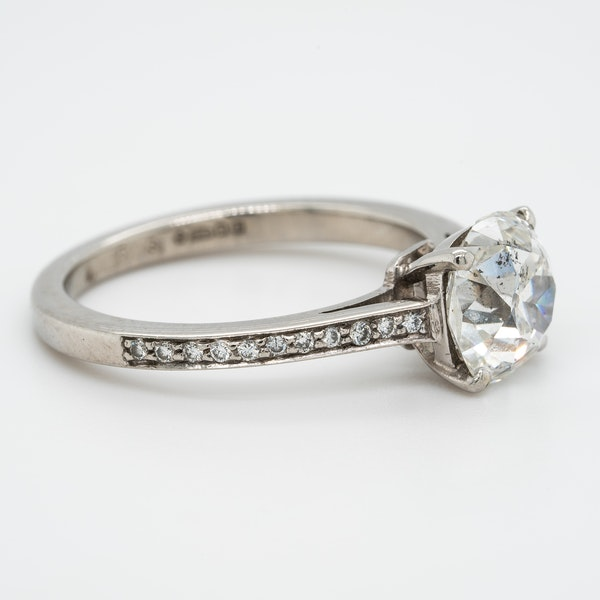 A Cushion Cut Solitaire Diamond Ring Offered by The Gilded Lly - image 2