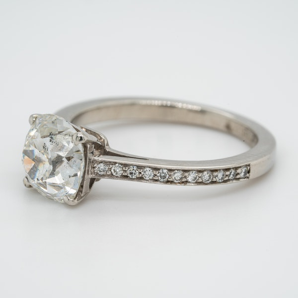 A Cushion Cut Solitaire Diamond Ring Offered by The Gilded Lly - image 3