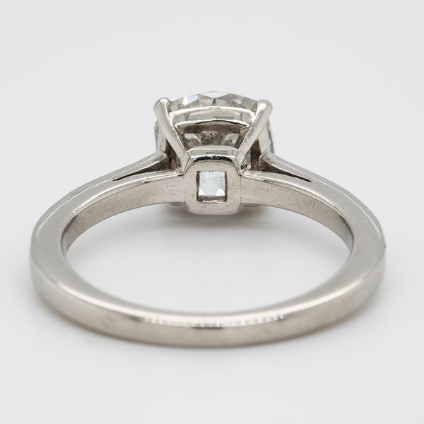 A Cushion Cut Solitaire Diamond Ring Offered by The Gilded Lly - image 4