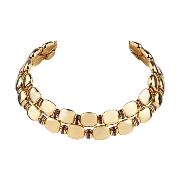 An 18ct Gold and Ruby Collar Offered by The Gilded Lily - image 1