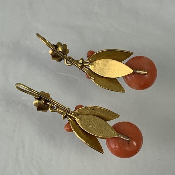 1820 coral earrings - image 2