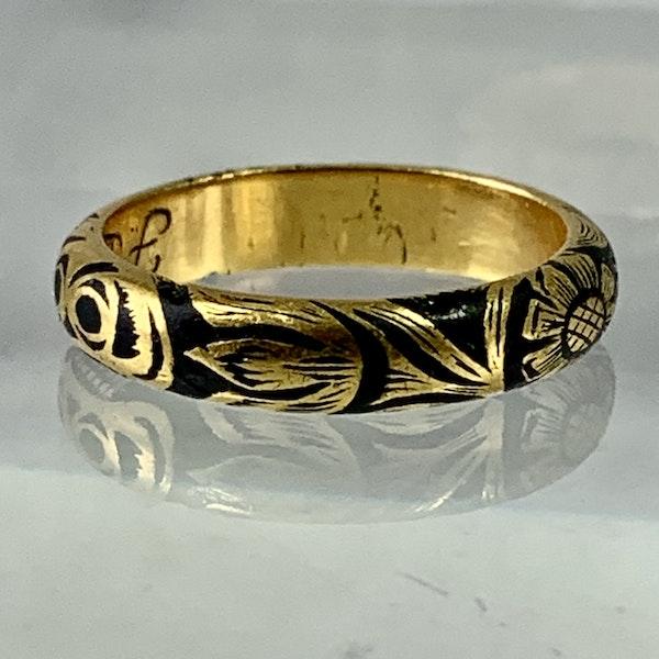 Memento mori gold ring - image 2