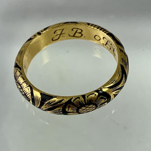 Memento mori gold ring - image 5