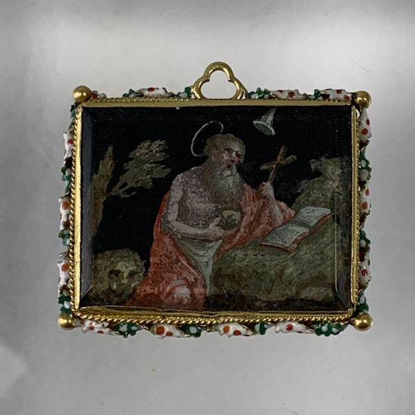 Seventeenth century devotional pendant - image 2