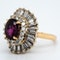 A 1950's Ruby and Diamond Cluster Ring Offered by The Gilded Lily - image 3