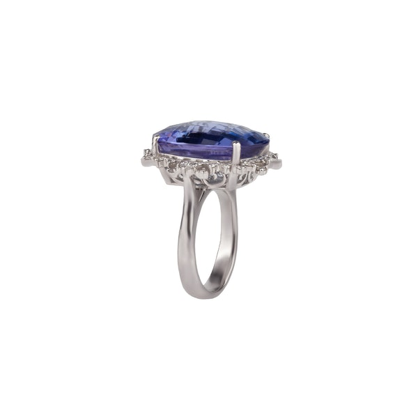 An Impressive Tanzanite Ring Offered by The Gilded Lily - image 2