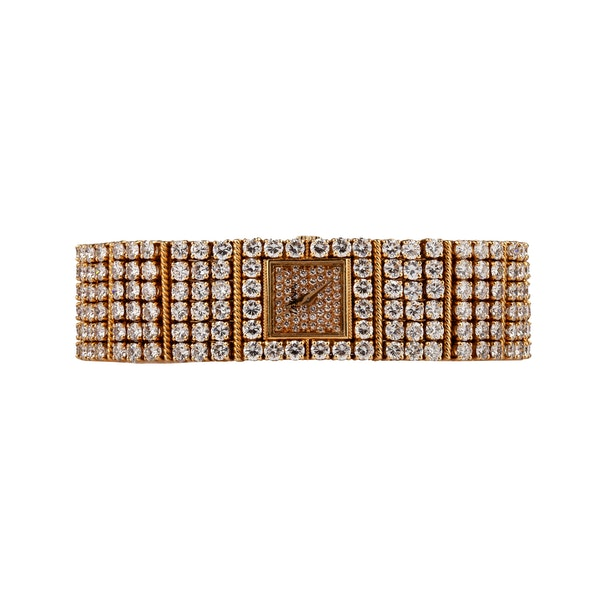 A de Laneau Diamond Set Bracelet Watch Offered by The Gilded Lily - image 2