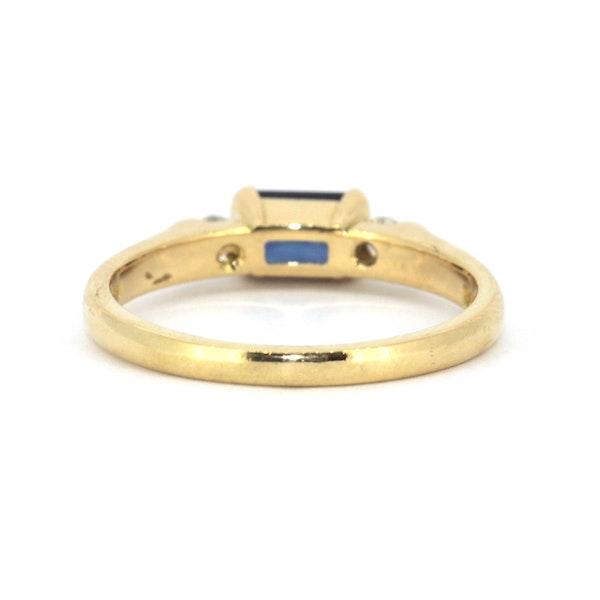 Emerald Cut Sapphire And Diamond Ring. S.Greenstein - image 3