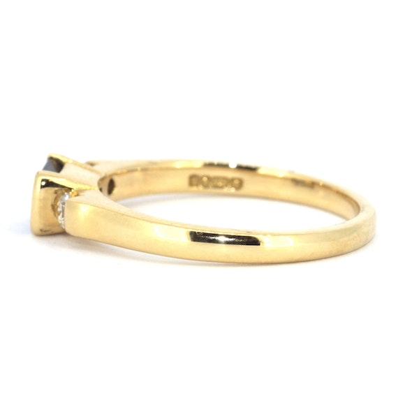 Emerald Cut Sapphire And Diamond Ring. S.Greenstein - image 2