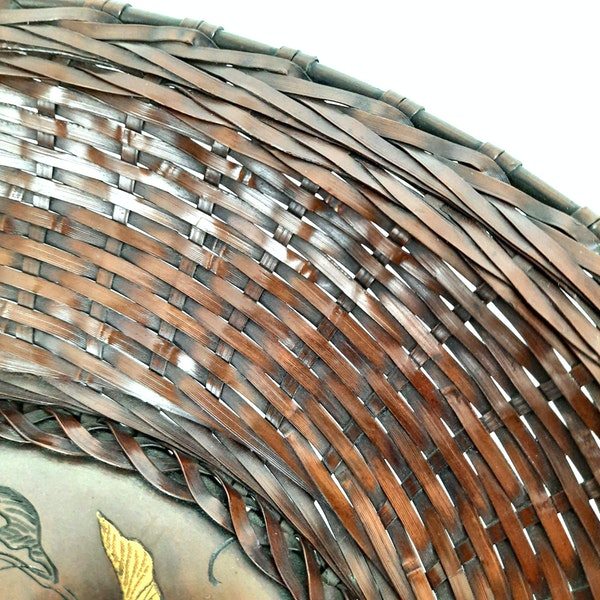 Japanese bronze woven plate - image 2