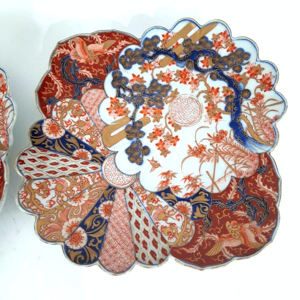 Pair Japanese Imari plates - image 5