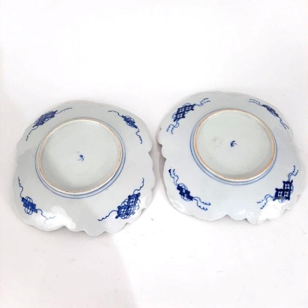 Pair Japanese Imari plates - image 7