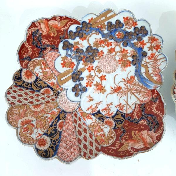 Pair Japanese Imari plates - image 4
