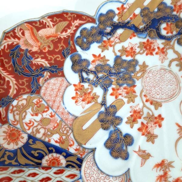 Pair Japanese Imari plates - image 2