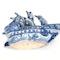 Japanese blue and white Arita ware boat - image 6