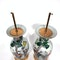 Pair Chinese famille verte lamped vases - image 8