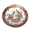 Pair Japanese Kutani plate with seven lucky gods decoration - image 3
