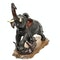 Japanese bronze sculpture of an elephant being attacked by tigers - image 2