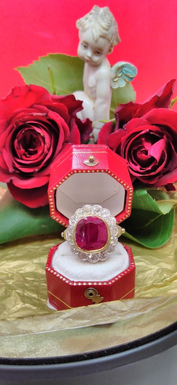 Natural Ruby and Diamond Ring - image 4