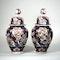 Pair Japanese Imari vases and covers - image 3
