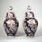Pair Japanese Imari vases and covers - image 5