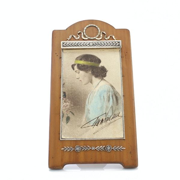 Faberge silver on wood table calendar, worksmaster Karl Gustav Armfelt. - image 2