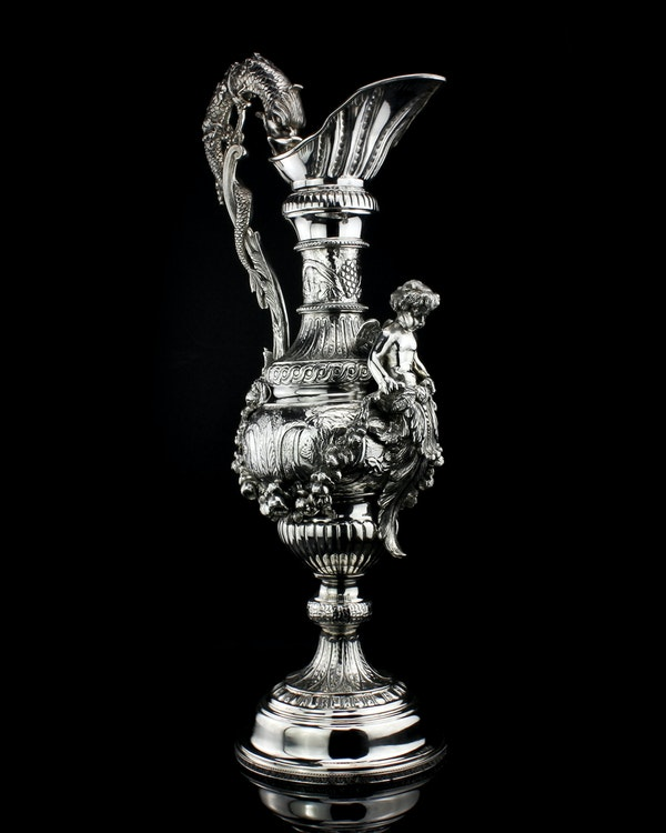 Italian silver jug, c1900. signed Buccelatti - image 2