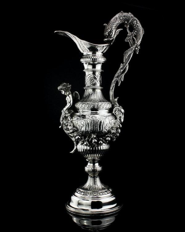Italian silver jug, c1900. signed Buccelatti - image 3