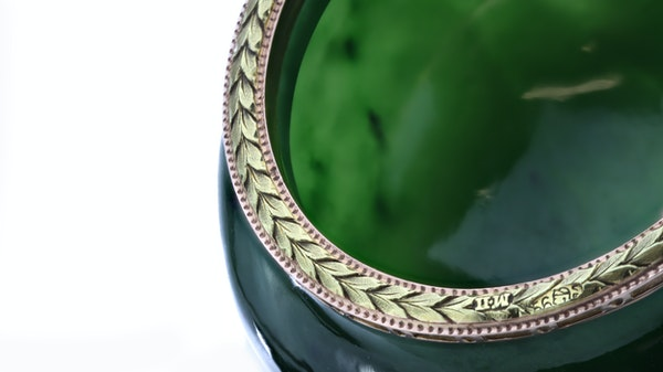 Russian Faberge gold mounted nephrite bowl, Michael Perchin, St. Petersburg 1899-1903 - image 6