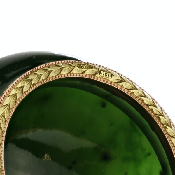 Russian Faberge gold mounted nephrite bowl, Michael Perchin, St. Petersburg 1899-1903 - image 4