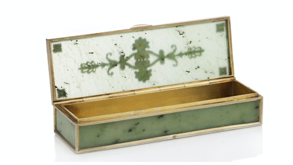 A Faberge Silver Gilt Jade Box, Moscow, 1899-1908 - image 4