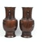 Pair Japanese bronze vases with sparrow decoration - image 7