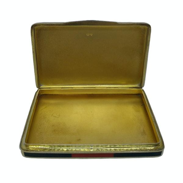 ArtDeco Continental silver gild enamel box - image 3