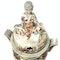 Large Japanese satsuma koro with a monk on the lid - image 6