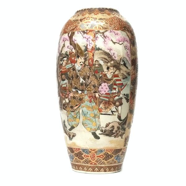 Large Japanese satsuma vase with decoration of Samurai - image 2