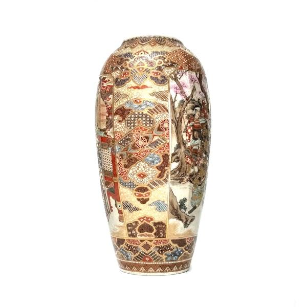 Large Japanese satsuma vase with decoration of Samurai - image 4