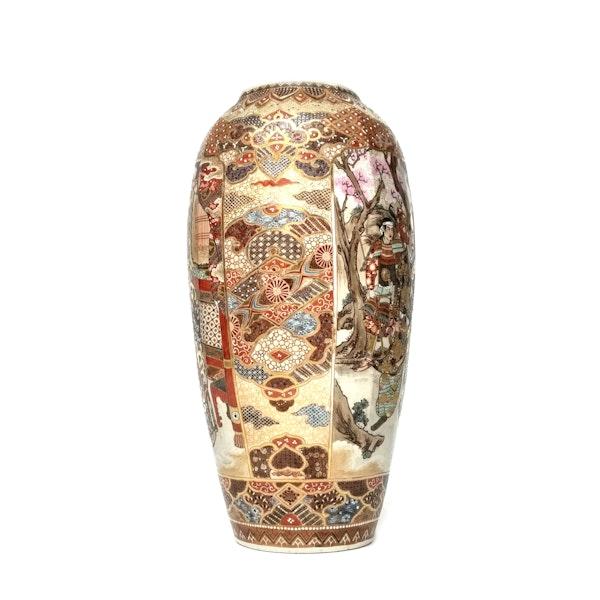Large Japanese satsuma vase with decoration of Samurai - image 3