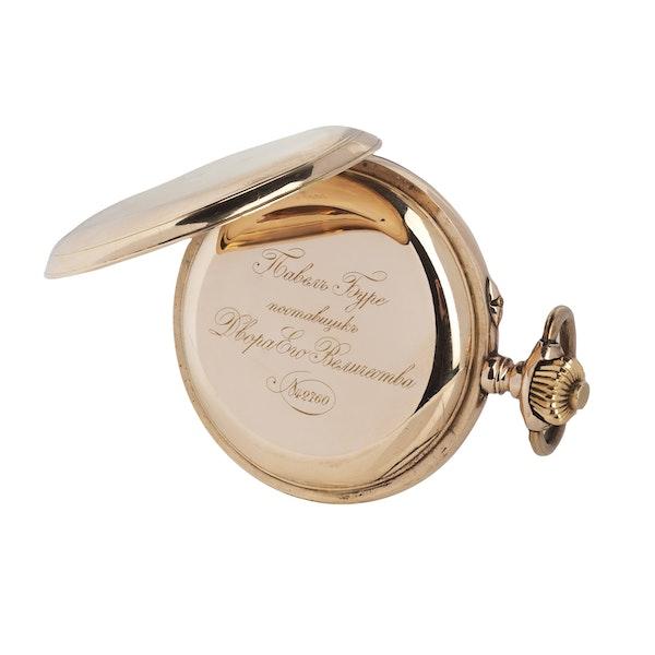 A gold Imperial presentation hunter pocket watch, Pavel Buhré, St. Petersburg, c.1900 - image 4