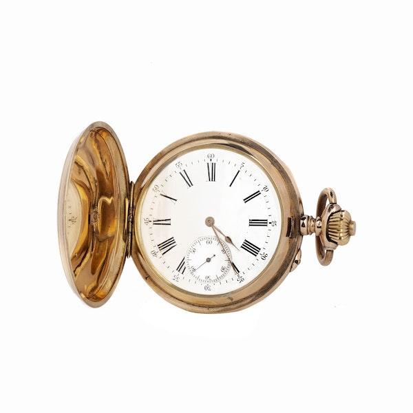 A gold Imperial presentation hunter pocket watch, Pavel Buhré, St. Petersburg, c.1900 - image 3