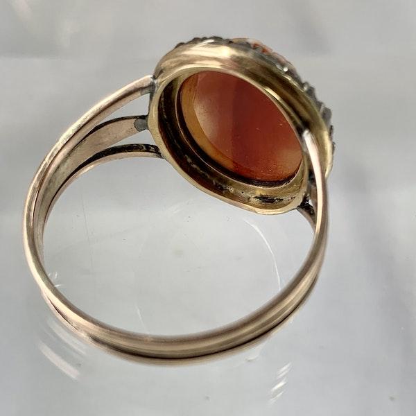 eighteenth century cameo ring with diamonds - image 2