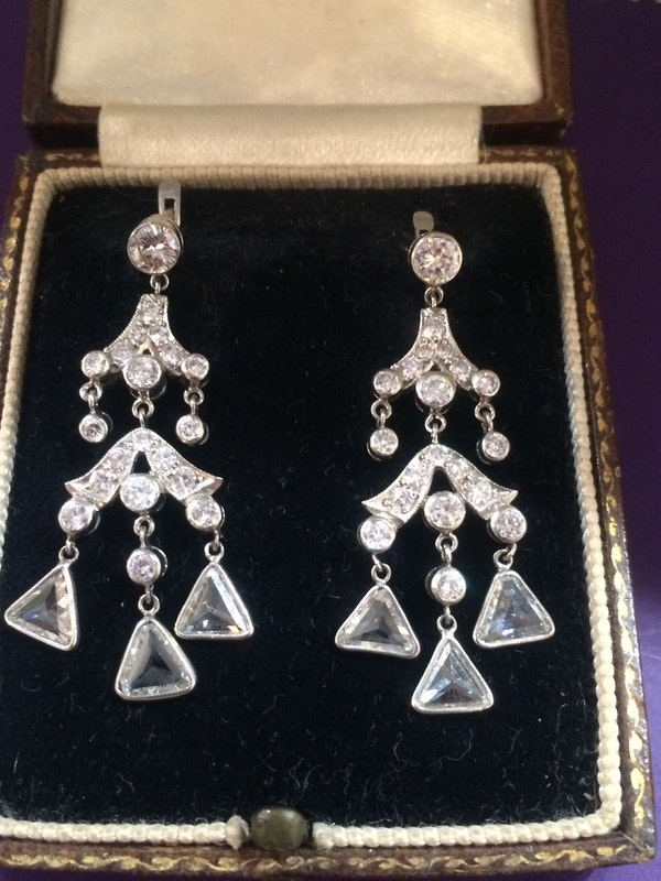 Art Deco Diamond ' Chandelier ' earrrings - image 1